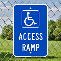 Access Ramp Handicap Parking Signs