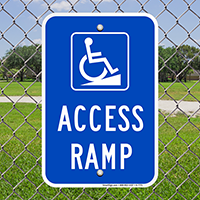 Access Ramp Signs (With Graphic)