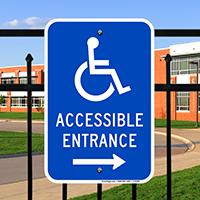 Accessible Entrance Handicap Sign
