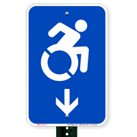 Accessible Down Arrow Signs (With Graphic)