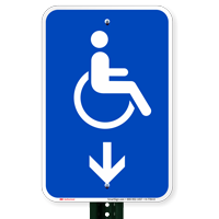 Accessible Handicap Down Arrow Signs (With Graphic)