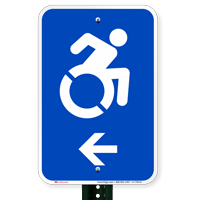 Accessible Left Arrow Signs (With Graphic)