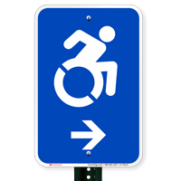 Accessible Right Arrow Signs (With Graphic)