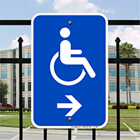 Accessible Handicap Right Arrow Signs (With Graphic)