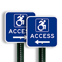 Access Signs with Left Arrow
