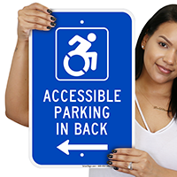 Accessible Parking In Back ISA Signs (With Graphic)