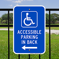Accessible Handicap Parking Signs (With Graphic)