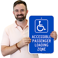 Accessible Passenger Loading Zone Handicap Parking Sign