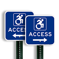 Access Signs with Right Arrow