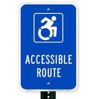 Accessible Route Parking Signs
