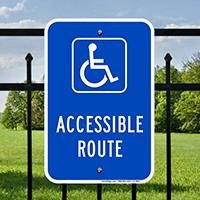 Accessible Route Handicap Parking Signs