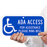 For Assistance Please Ring Bell ADA Access Signs