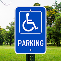 Parking (handicapped symbol) ADA Signs