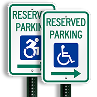 Reserved Parking - ADA Handicapped Signs