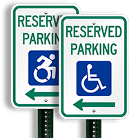 Reserved Parking Aluminum ADA Handicapped Signs