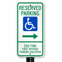 Alabama Bidirectional Reserved Accessible Parking Signs