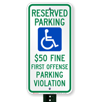 Alabama Reserved Accessible Parking Signs