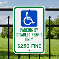 Florida Parking By Disabled Permit Only Signs