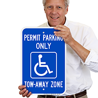 Georgia Accessible Permit Parking Only Signs