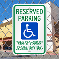 Hawaii Reserved Accessible Parking, Licence Required Signs