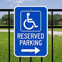 Michigan Bidirectional Reserved Accessible Parking Signs