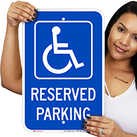 Michigan Reserved Accessible Parking Signs