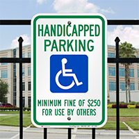 Nevada Accessible Parking Signs