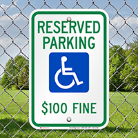 North Dakota Reserved Accessible Parking Signs