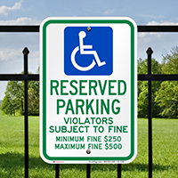 Ohio Reserved Accessible Parking Signs