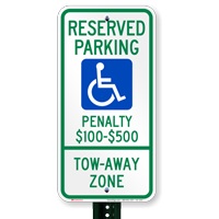 Virginia Reserved Accessible Parking, Tow-Away Zone Signs