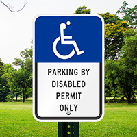Parking Disabled Permit Only Signs