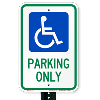 Handicapped Parking Only Signs