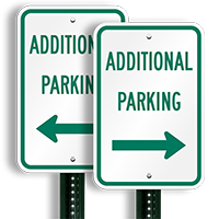 Additional Parking Right Arrow Signs