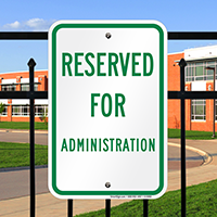 Reserved For Administration Signs