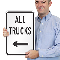 All Trucks Driveway On Left Signs