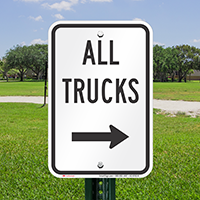 All Trucks Driveway On Right Signs