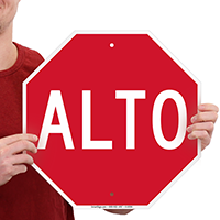 Spanish Stop Signs Alto