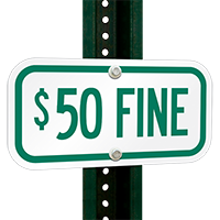 $50 FINE ADA Handicapped Signs