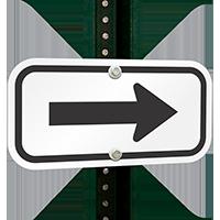 Arrow (black) Aluminum Arrow Signs