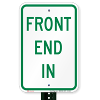 FRONT END IN Parking Signs