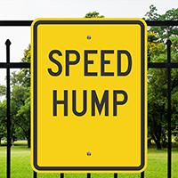SPEED HUMP Aluminum Speed Bump Sign