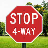 Stop 4-Way 24 in. x 24 in. Reflective Aluminum Signs