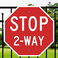 Stop 2-Way 24 in. x 24 in. Reflective Aluminum Signs
