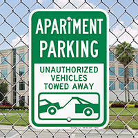 Apartment Parking Unauthorized Vehicles Towed Away Signs