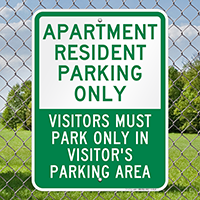 Apartment Resident Parking Only Signs