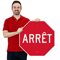 Arret French Stop Signs
