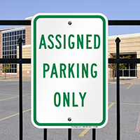 AsSignsed Parking Only Signs