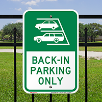 Back In Parking Only Sign