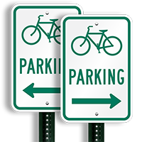 Bicycle (Symbol) Parking (right arrow) Aluminum Signs