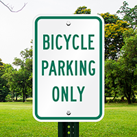 BICYCLE PARKING ONLY Aluminum Reserved Parking Signs